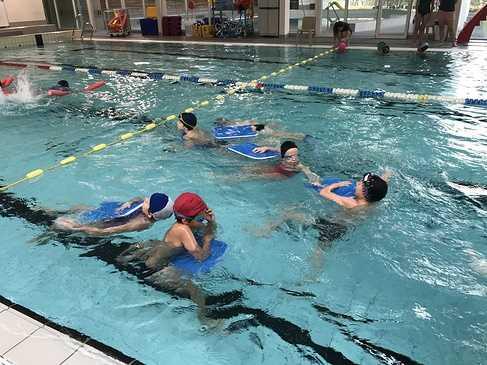 Les classes de primaire à la piscine img3181