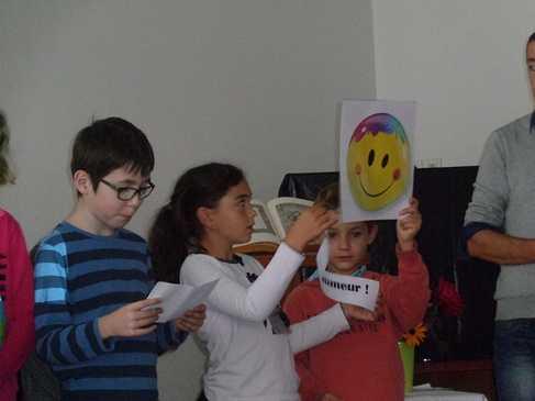 Célébration de rentrée sur le site du primaire. celebration11